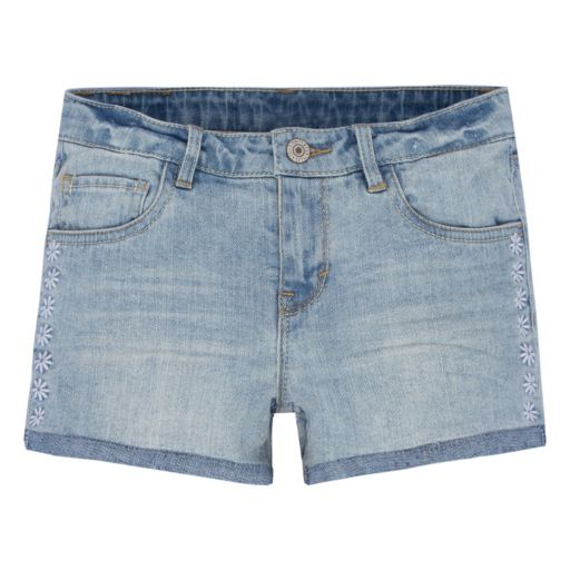 Girls 7-16 Levi's Embroidery Shorty Jean Shorts