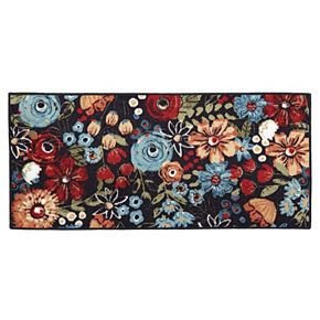 Mohawk® Home Chalkboard Floral Fun Kitchen Rug