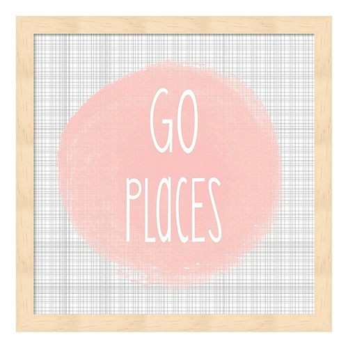 """Go Places"" Framed Wall Art"
