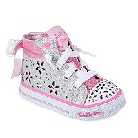 Skechers Twinkle Toes Shuffles Fancy Fave Toddler Girls' Light-Up Shoes