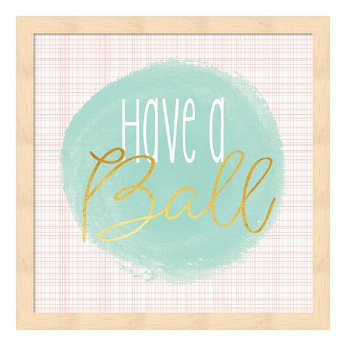 """Have A Ball"" Framed Wall Art"