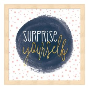 """Surprise Yourself"" Framed Wall Art"