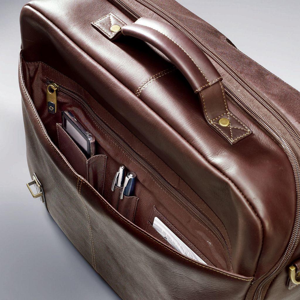 Samsonite Colombian Leather Flapover Laptop Case