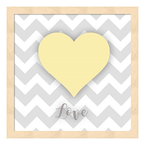 """Love"" Heart Framed Wall Art"