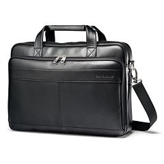 Samsonite Slim Leather Laptop Briefcase