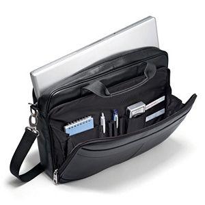 Samsonite Slim Leather Laptop Briefcase