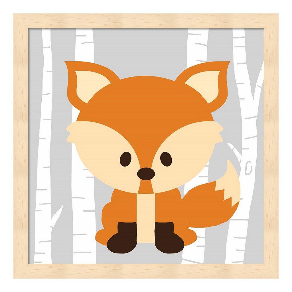 Woodland Fox Framed Wall Art