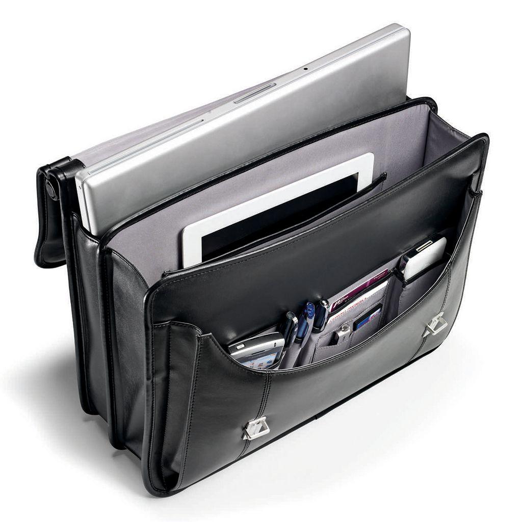 Samsonite Dowel Leather Flapover Laptop Business Case