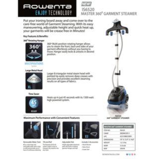 Rowenta Master 360 Garment Steamer
