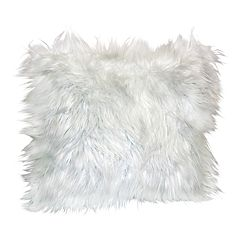 Angora Faux Fur Throw Pillow