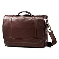 Samsonite Colombian Leather Flapover Laptop Briefcase
