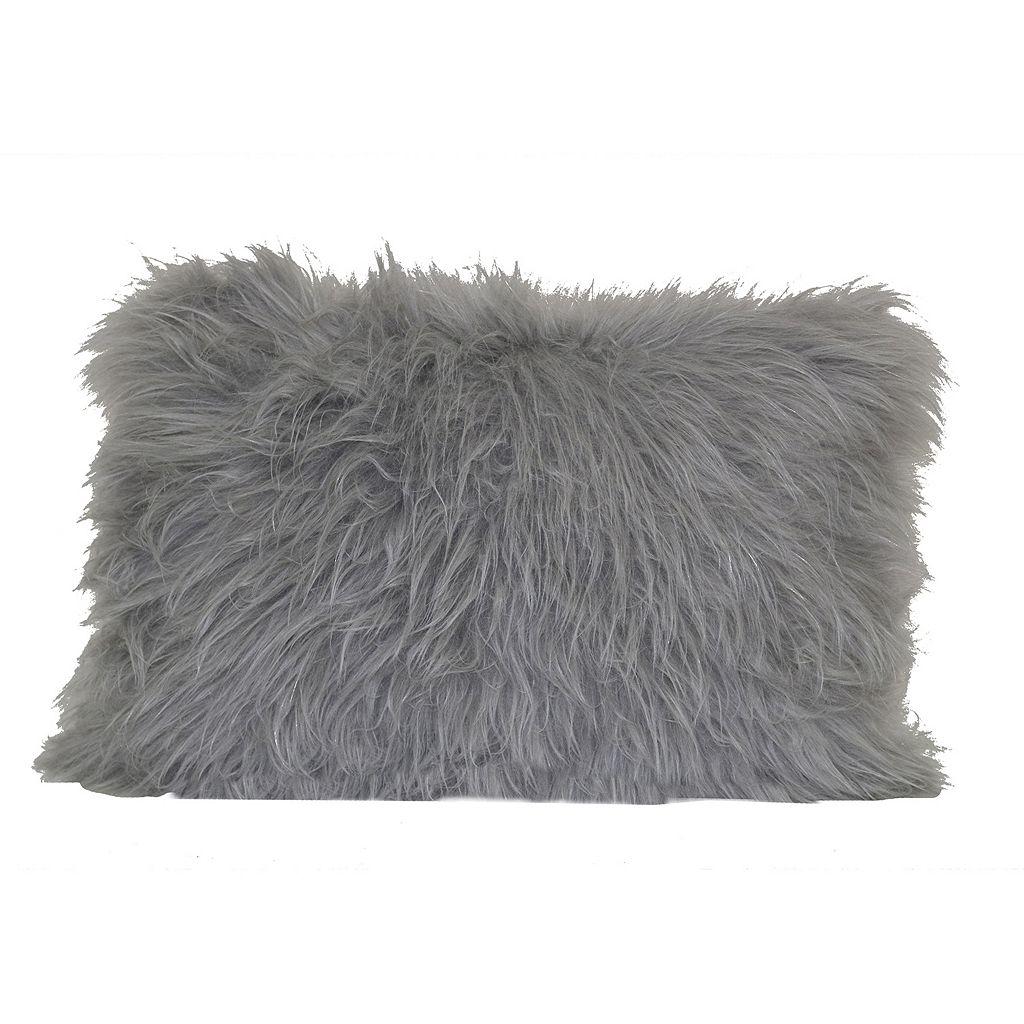 Angora Faux Fur Oblong Throw Pillow
