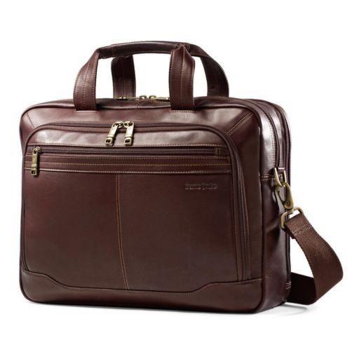 Samsonite Colombian Leather Toploader Laptop Briefcase