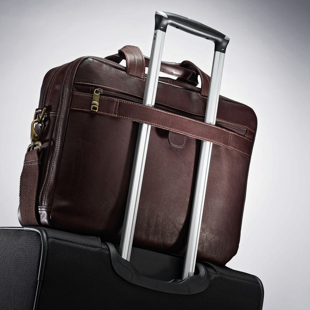 Samsonite Colombian Leather Toploader Laptop Briefcase