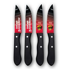 Chicago Blackhawks 4-Piece Steak Knife Set