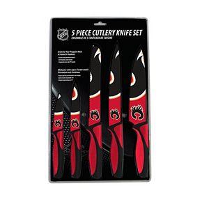 Calgary Flames 5-Piece Cutlery Knife Set