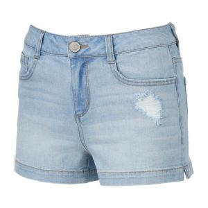 Juniors' SO® Ripped Denim Shortie Shorts