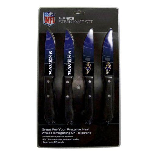 Baltimore Ravens 4-Piece Steak Knife Set