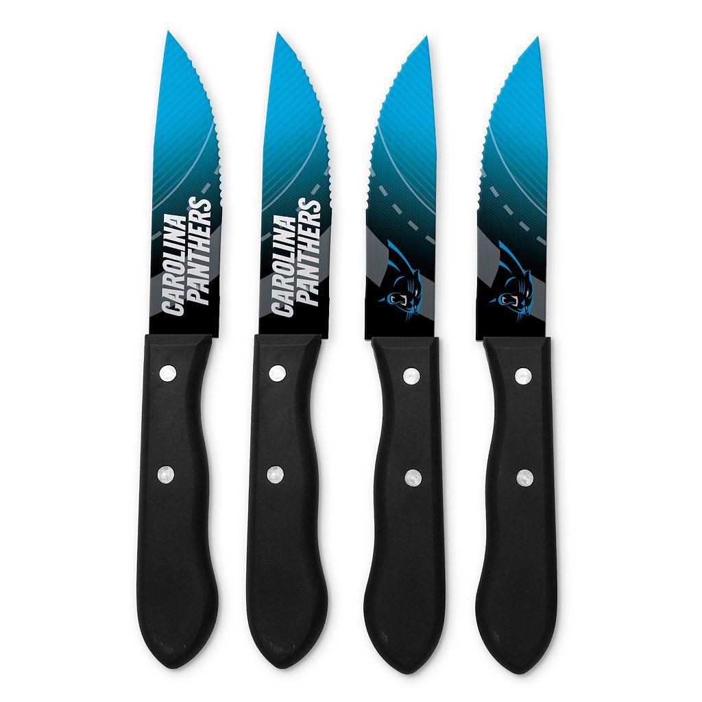 Carolina Panthers 4-Piece Steak Knife Set
