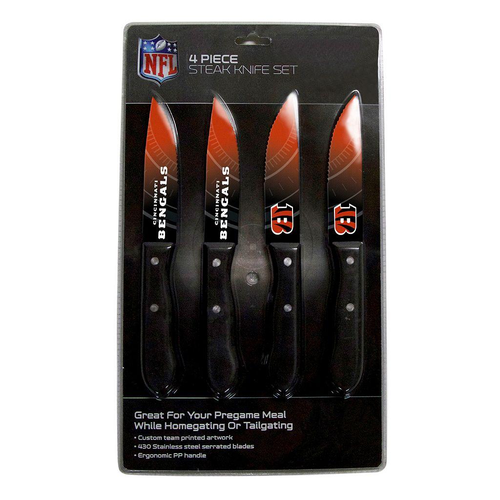 Cincinnati Bengals 4-Piece Steak Knife Set