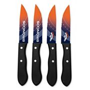 Denver Broncos 4 pc Steak Knife Set