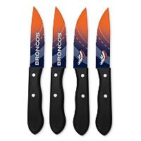 Denver Broncos 4-Piece Steak Knife Set
