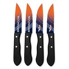 Denver Broncos 4 pc Steak Knife Set