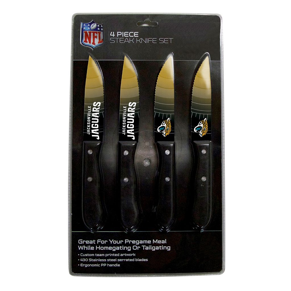 Jacksonville Jaguars 4-Piece Steak Knife Set