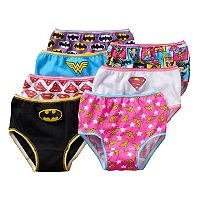 Toddler Girl DC Comics 7-pk. Bat Girl, Wonder Woman & Superwoman Briefs