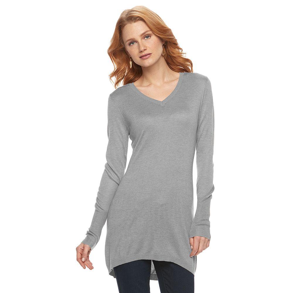 Apt. 9® V-Neck Tunic Sweater