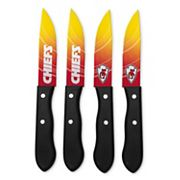 Kansas City Chiefs 4 pc Steak Knife Set