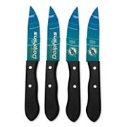 Miami Dolphins 4 pc Steak Knife Set