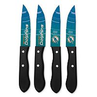 Miami Dolphins 4-Piece Steak Knife Set