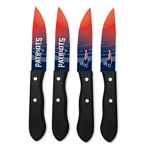New EnglandPatriots 4-Piece Steak Knife Set