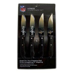 New Orleans Saints 4-Piece Steak Knife Set