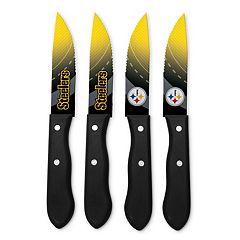 Pittsburgh Steelers 4-Piece Steak Knife Set