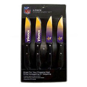 Minnesota Vikings 4-Piece Steak Knife Set