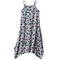 Girls 7-16 & Plus Size SO® Patterned Handkerchief Hem Knit Dress