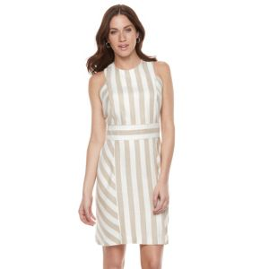 Women's Sharagano Striped Sheath Dress