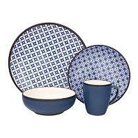 Sango Crystal Blue 16 pc Dinnerware Set