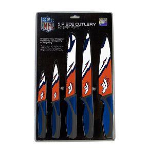 Denver Broncos 5-Piece Cutlery Knife Set