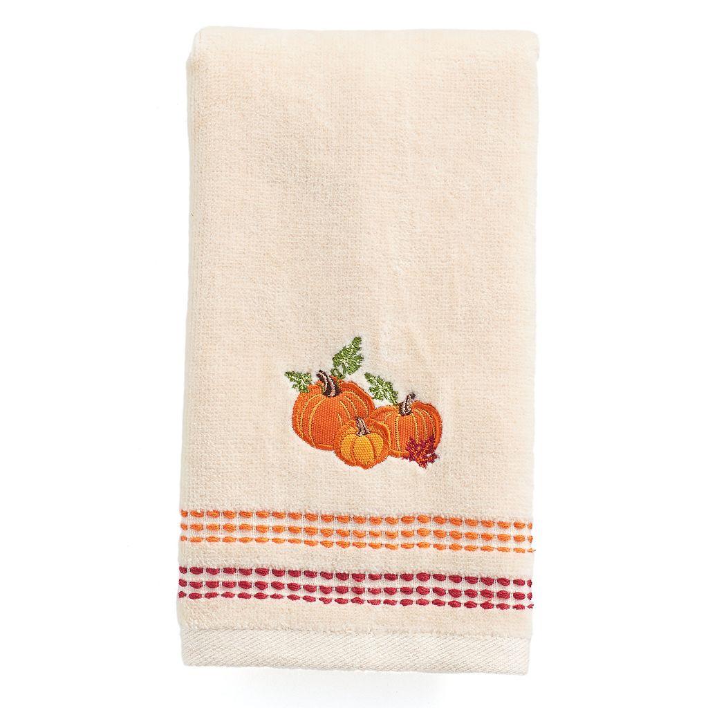 Celebrate Together Pumpkin Trio Fingertip Towel