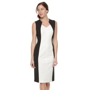 Women's Sharagano Colorblock Midi Sheath Dressn