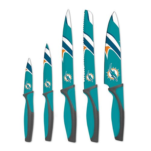 Miami Dolphins 5-Piece Cutlery Knife Set