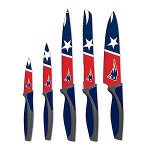 New EnglandPatriots 5-Piece Cutlery Knife Set