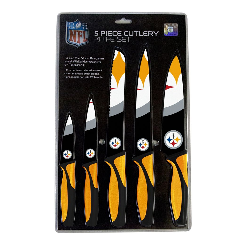 Pittsburgh Steelers 5-Piece Cutlery Knife Set