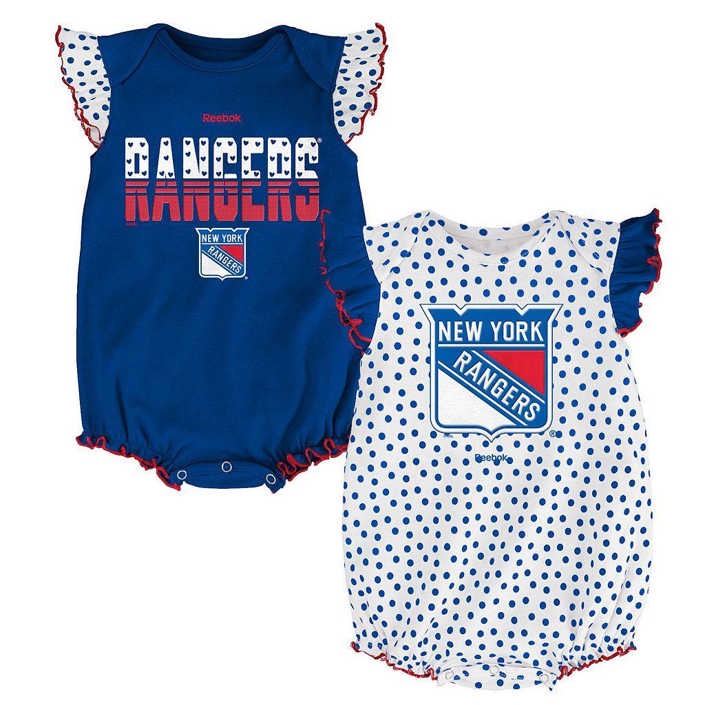 Baby Reebok New York Rangers Polka-Dot Bodysuit Set