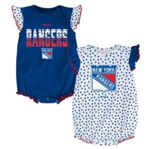 Baby Reebok New York Rangers Polka-Dot Bodysuit Set!