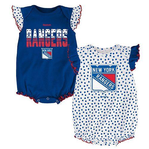 Baby Reebok New York Rangers Polka-Dot Bodysuit Set b2ac7fb85