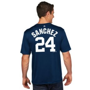 Men's Majestic New York Yankees Gary Sanchez Player Name and Number Tee